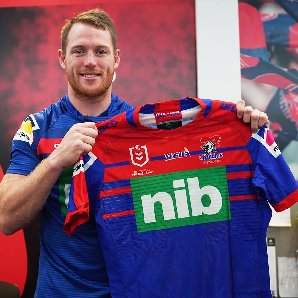 mainTim Glasby   Game Worn 2019 Knights Jersey Signed by NRL team0