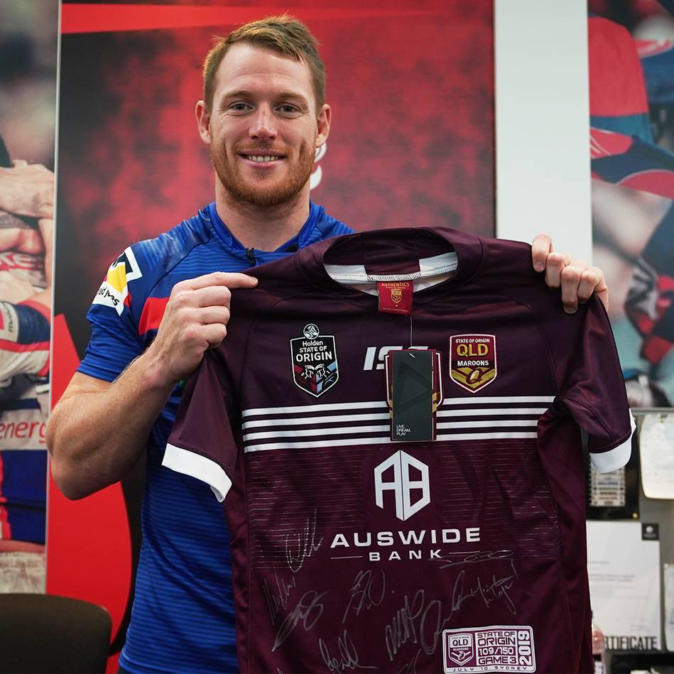 mainTim Glasby | Queensland Origin Game 3 2019 Jersey Signed by Maroons Team0
