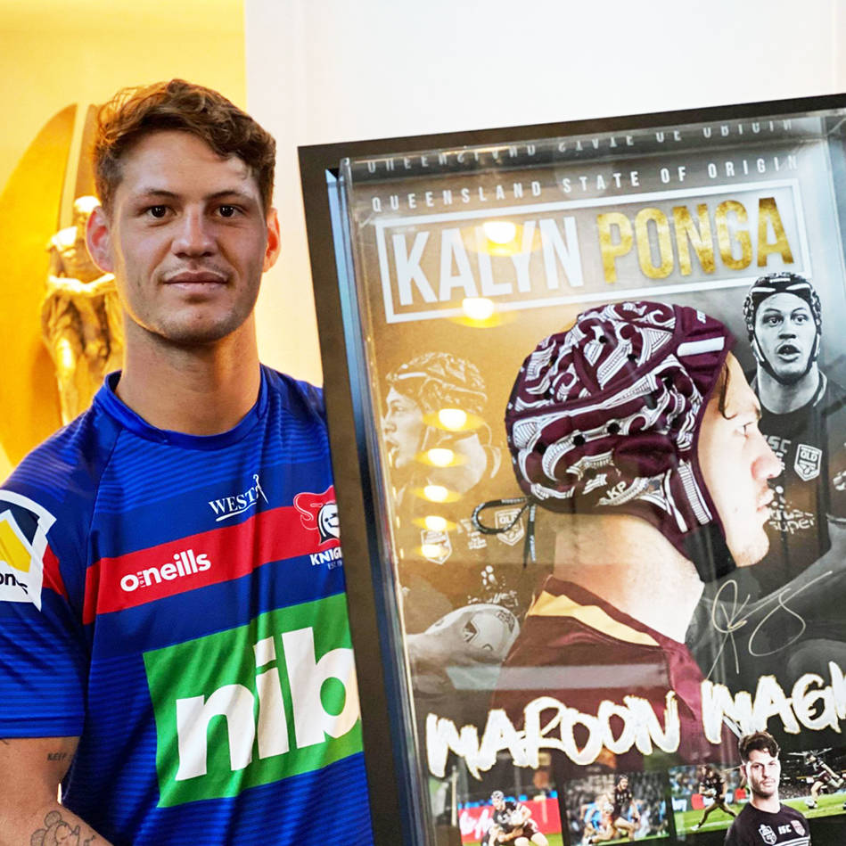 mainKalyn Ponga, Queensland State of Origin, Game 1, 2019 Head Gear.0