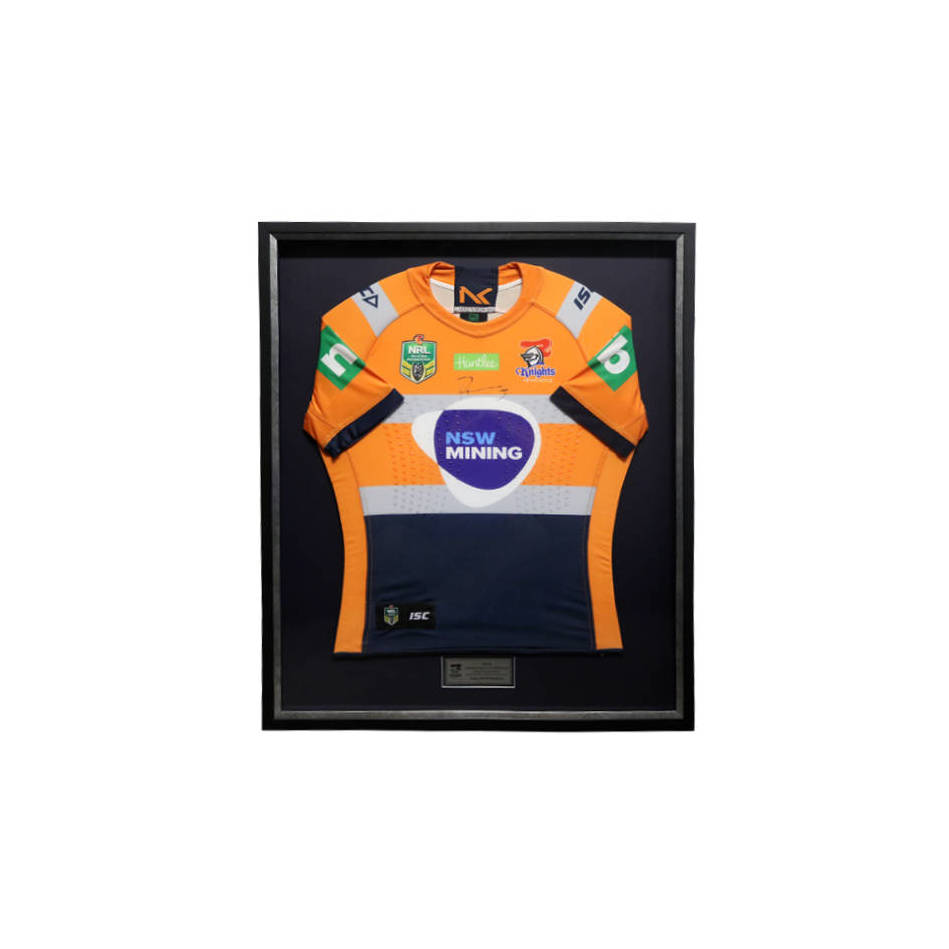 mainMates in Mining | Kalyn Ponga Signed & Framed Replica Hi-Vis Mining Jersey0