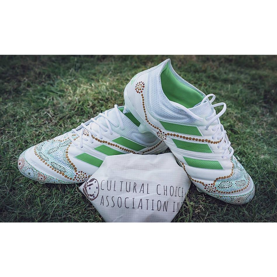 mainCONNOR WATSON | Match Worn & Signed Indigenous Boots0