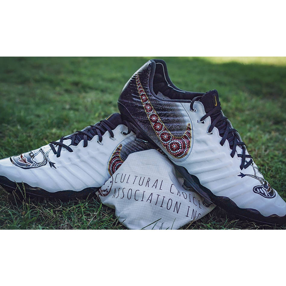 mainDANIEL SAIFITI | Match Worn & Signed Indigenous Boots0