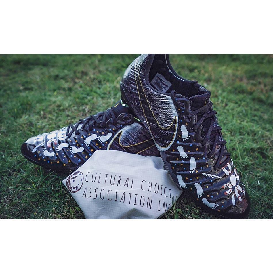 mainMITCH BARNETT | Match Worn & Signed Indigenous Boots0