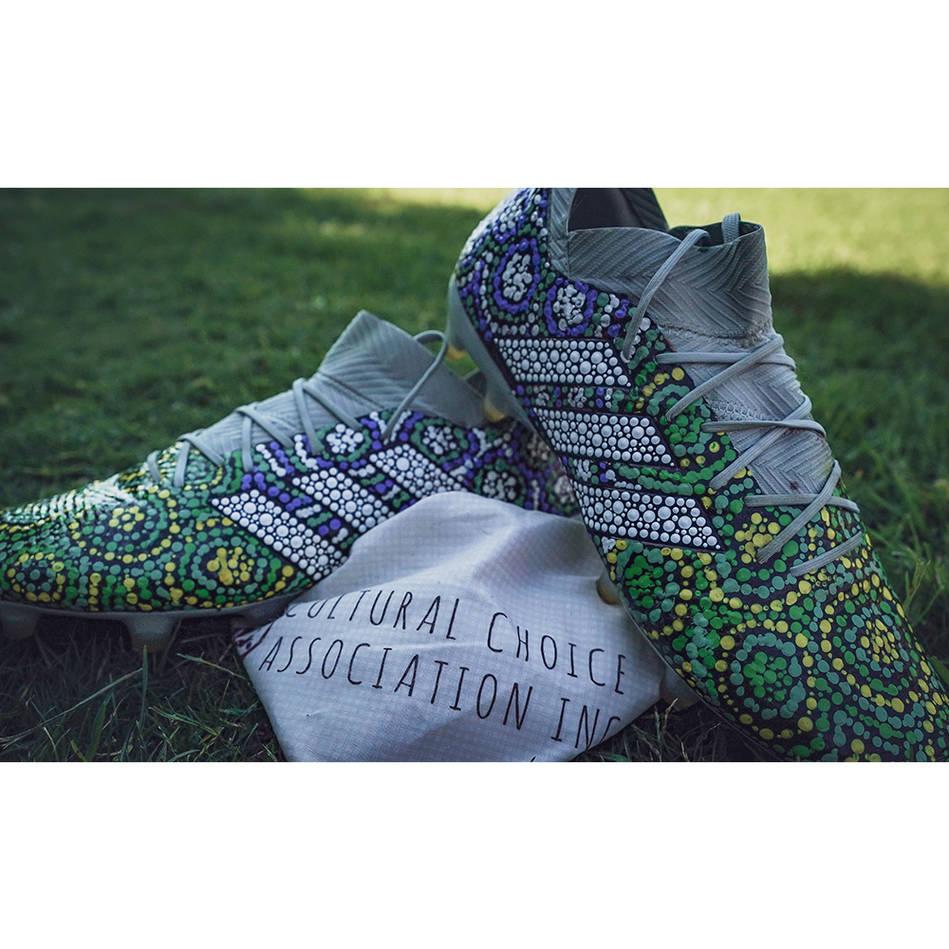 mainDANNY LEVI | Match Worn & Signed Indigenous Boots0